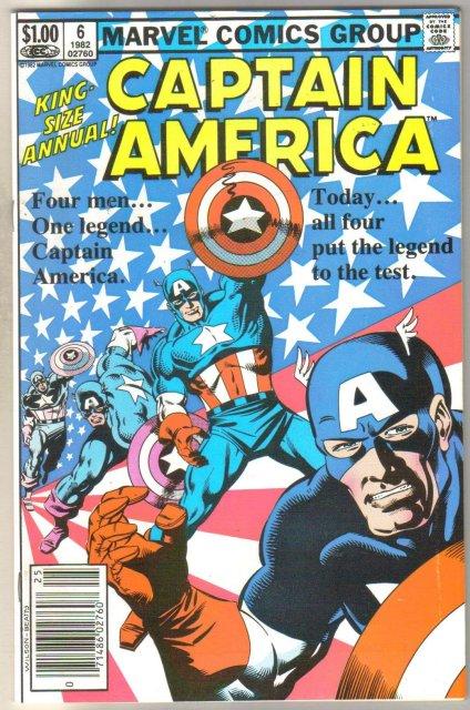Captain America Annual #6 comic book mint 9.8