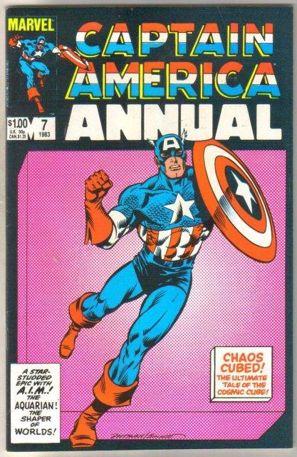 Captain America Annual #7 comic book fn/vf 7.0