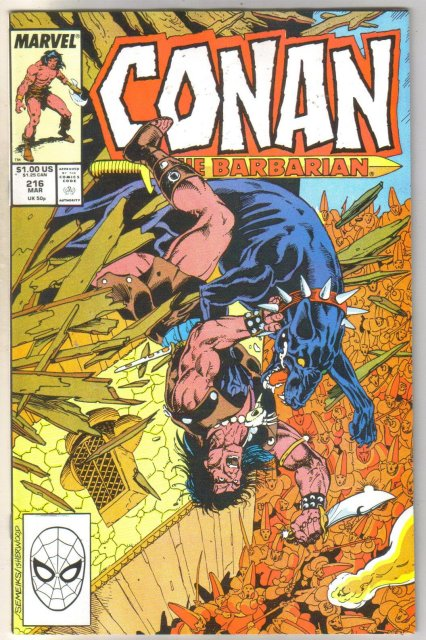 Conan the Barbarian #216 comic book near mint 9.4