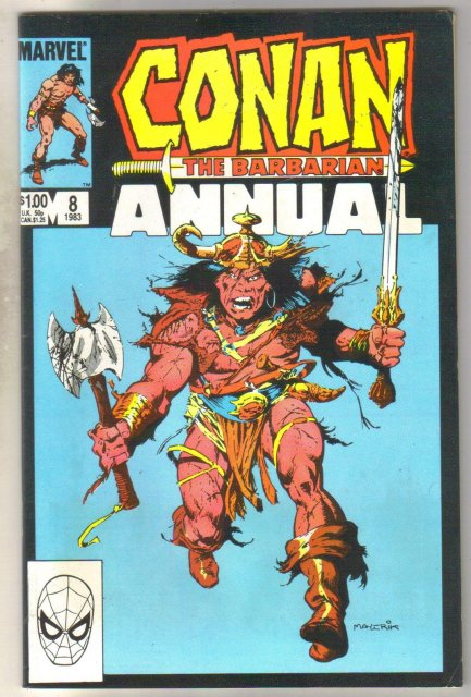Conan the Barbarian Annual #8 comic book near mint 9.4