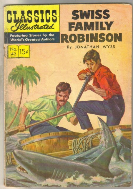 Classics Illustrated #42 hrn 131 (Swiss Family Robinson) very good 4.0