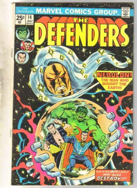 Defenders #14 comic book very good 4.0