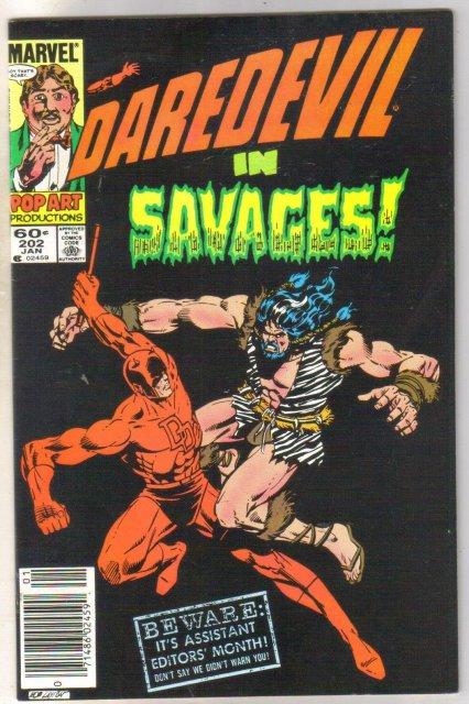 Daredevil #202 comic book near mint 9.4