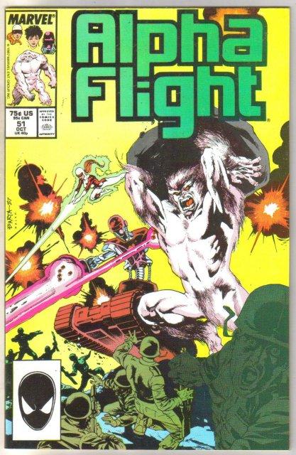 Alpha Flight #51 comic book mint 9.8