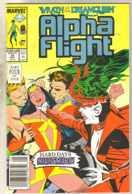 Alpha Flight #70 comic book near mint 9.4