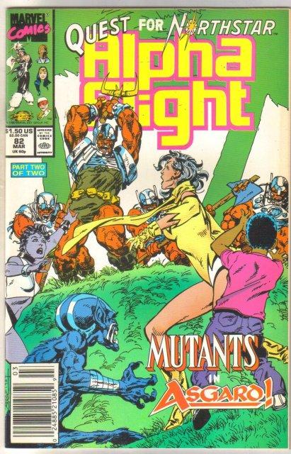 Alpha Flight #82 comic book near mint 9.4