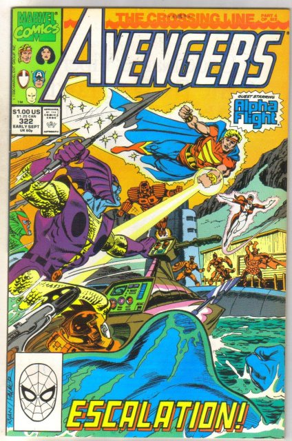 Avengers #322 comic book near mint 9.4