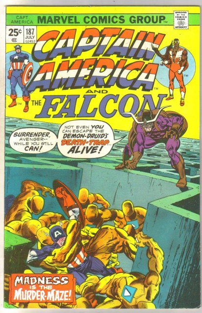 Captain America #187 comic book very fine 8.0