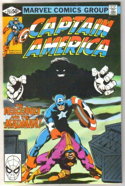 Captain America #251 comic book near mint 9.4e 8.0