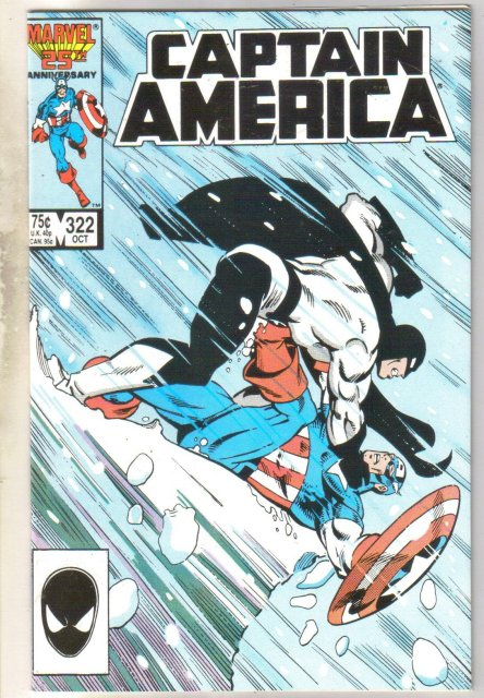 Captain America #322 comic book near mint 9.4