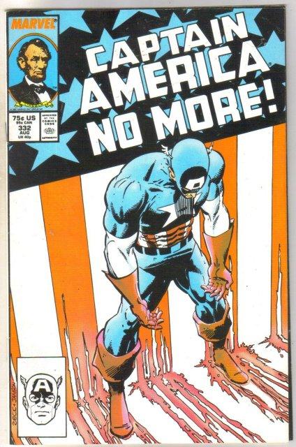 Captain America #332 comic book very fine 8.0nt 9.4