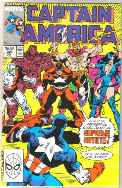 Captain America #353 comic book near mint 9.4