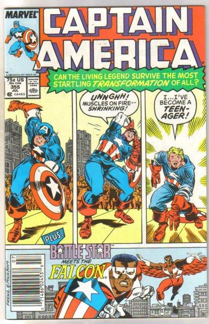 Captain America #355 comic book near mint 9.4