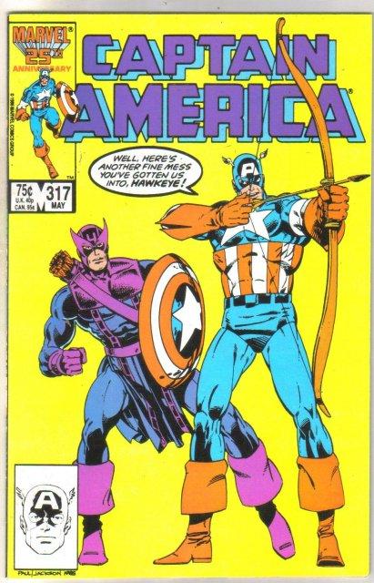 Captain America #317 comic book near mint 9.4