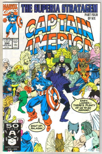 Captain America #390 comic book near mint 9.4