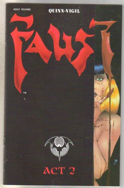 Faust #2 (second print) comic book near mint 9.4