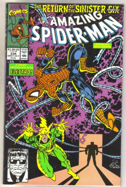 Amazing Spider-man #334 comic book near mint 9.4