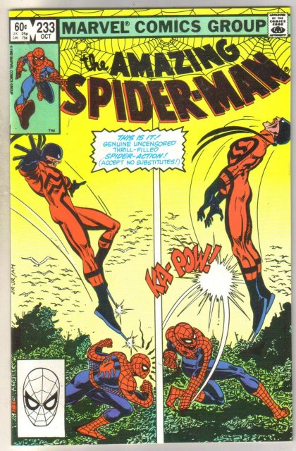 Amazing Spider-man #232 comic book near mint 9.4