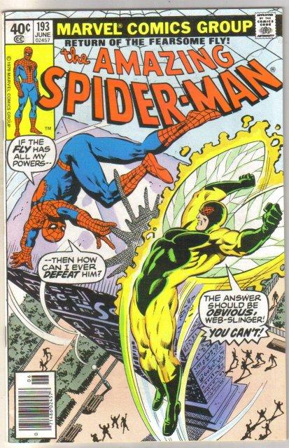 Amazing Spider-man #193 comic book very fine 8.0