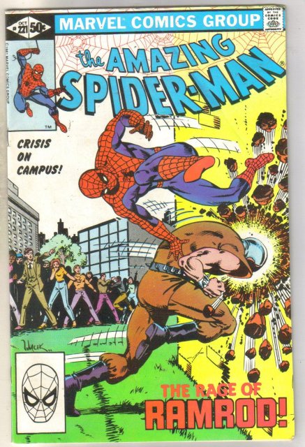 Amazing Spider-man #221 comic book fine 6.0