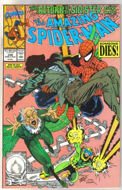 Amazing Spider-man #336 comic book fine 6.0