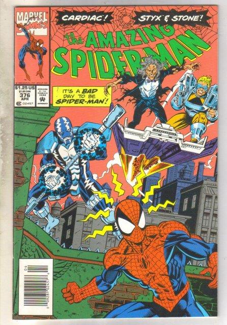 Amazing Spider-man #376 comic book near mint 9.4