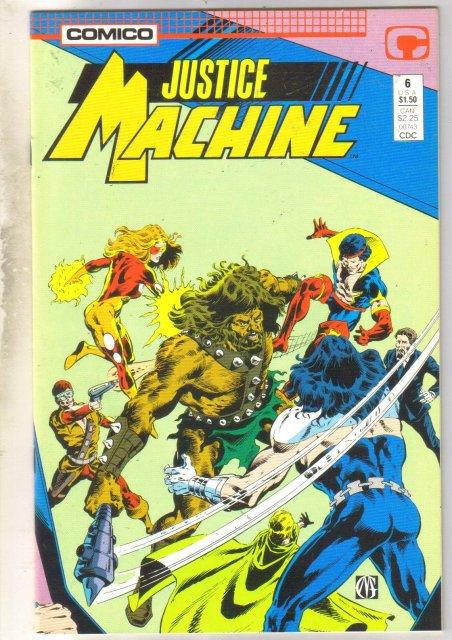 Justice Machine #6 comic book near mint 9.4