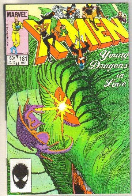 Uncanny X-men #181 comic book near mint 9.4