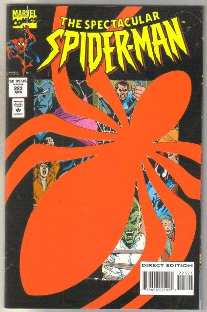 Spectacular Spider-man #223 comic book near mint 9.4