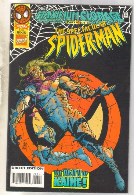 Spectacular Spider-man #227 comic book near mint 9.4