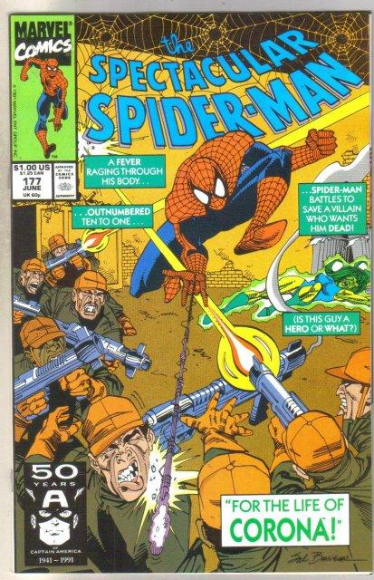 Spectacular Spider-man #177 comic book near mint 9.4