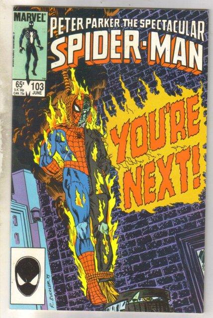 Spectacular Spider-man #103 comic book near mint 9.4