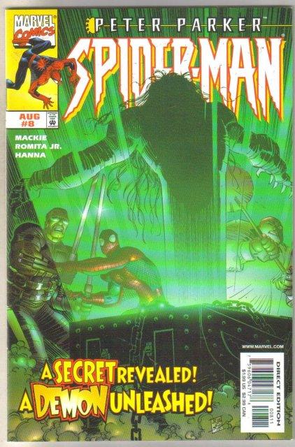 Peter Parker Spider-man #8 comic book near mint 9.4