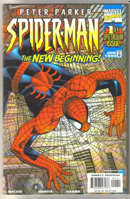 Peter Parker Spider-man #1 comic book mint 9.8