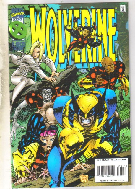 Wolverine #94 comic book near mint 9.4