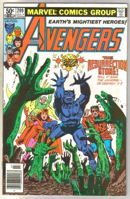 Avengers #209 comic book near mint 9.0