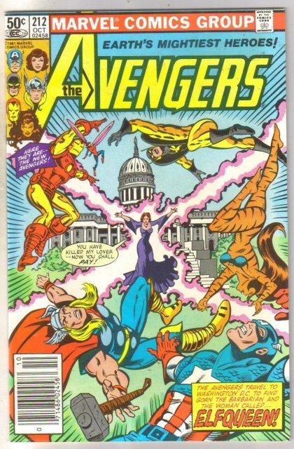 Avengers #212 comic book near mint 9.0