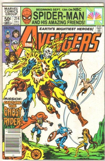 Avengers #214 comic book very fine 9.0