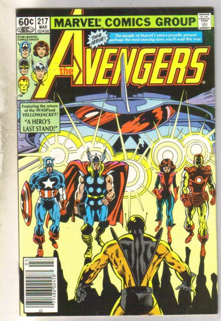 Avengers #217 comic book very good 4.0