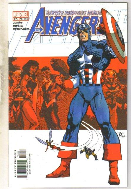 Avengers #473 comic book near mint 9.4