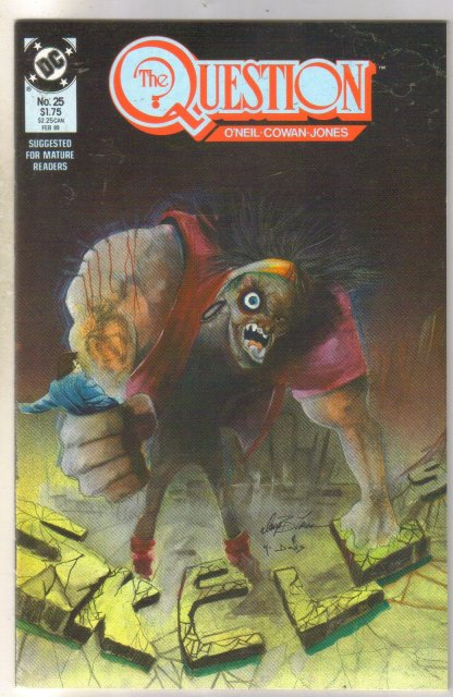 The Question #25 comic book mint 9.8