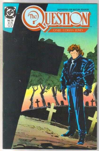 The Question #30 comic book near mint 9.4