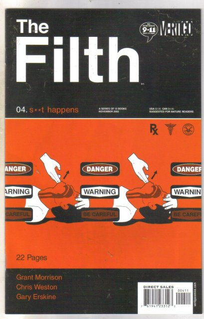 The Filth #4 comic book near mint 9.4