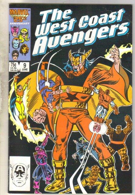 West Coast Avengers #9  comic book very fine 8.0