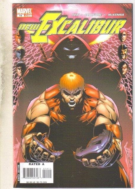 Excalibur #14 comic book near mint 9.4