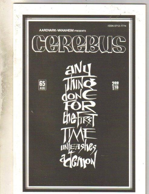 Cerebus #65 comic book near mint 9.4