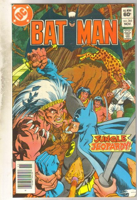 Batman #365 comic book very fine 8.0