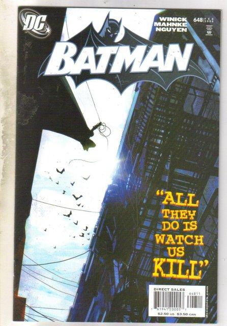 Batman #648 comic book near mint 9.4