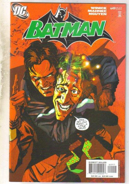 Batman #649 comic book near mint 9.4