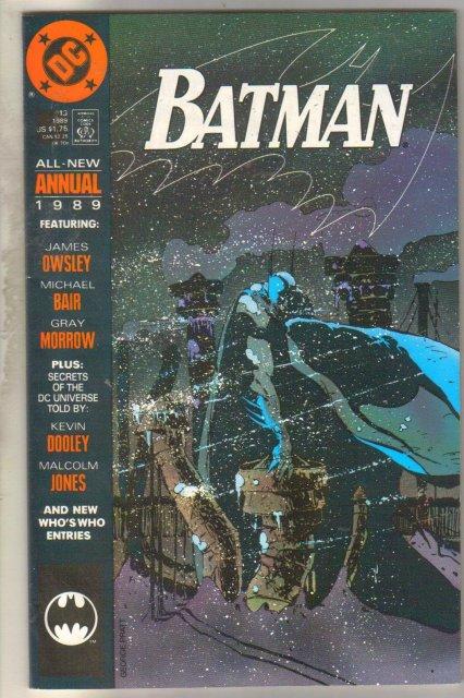 Batman Annual #13 comic book near mint 9.4
